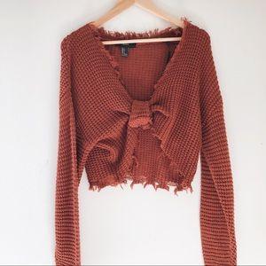 Sweaters - F21 Frayed Sweater